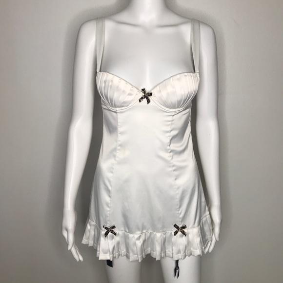 Victoria's Secret Other - Victorias Secret White Tennis Slip Dress 34B